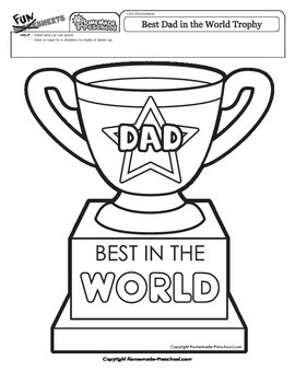 Father's Day: Best Dad in the World Trophy by Fantastic