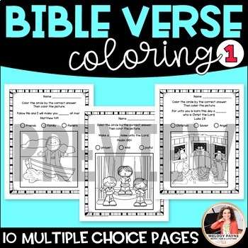 Bible Coloring Sheets Set 1 {Bible Characters, Verses