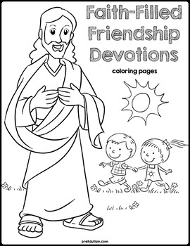 Bible Devotions Friendship Coloring Pages By Prekautism Tpt