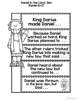 Bible Interactive Notebook Add-On: Daniel in the Lions
