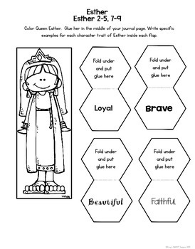 Bible Interactive Notebook: Old Testament Add-On Esther by