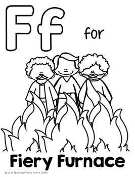 Bible Letter of the Week: Letter F by Teaching Where You