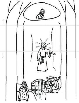 Bible Stories Coloring Page Surprise! Noah, Daniel and