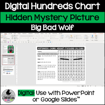 Big Bad Wolf Hundreds Chart Hidden Picture Activity for