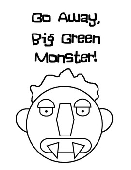 Big Green Monster (Ed Emberley) Printable by LittleCub