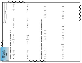 Big Ideas Math Foldables for Chapters 1 and 2 by Jan