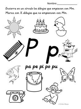 Snap Letra P pa pe pi po pu Silabas Pinterest Spanish