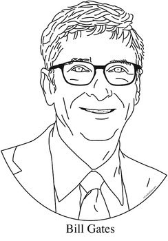 Bill Gates Clip Art, Coloring Page, or Mini-Poster by