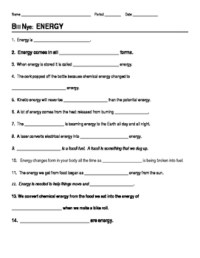Bill Nye Energy Video Guide Sheet by jjms   Teachers Pay ...
