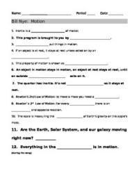 Bill Nye Motion Guide Sheet by jjms