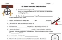 Bill Nye Simple Machines Video Worksheet by Mayberry in ...