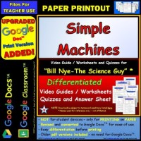 Bill Nye - Simple Machines  Worksheet, Answer... by Star ...