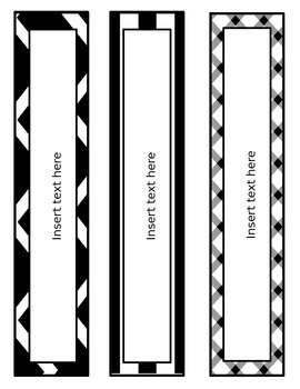 Binder Covers  Editable  Black and White by Face the