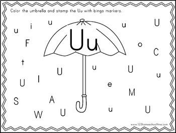 Bingo Marker Alphabet Letter Find (Preschool
