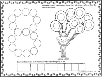 Bingo Marker Number Worksheets (Preschool) by Beth Gorden