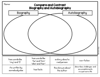Biographies and Autobiographies: Reading Activities by