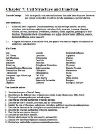Cell Structure And Function Review Worksheet - Breadandhearth