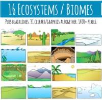 Biomes - Ecosystems Clip art - 16 Habitats - 31 Clipart ...