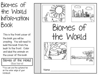 Biomes of the World ~ Science Interactive Notebook Pack by