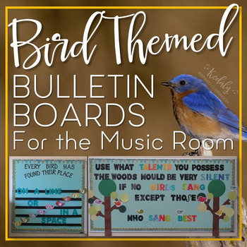 Bird Themed Bulletin Boards for the Music Room Printables