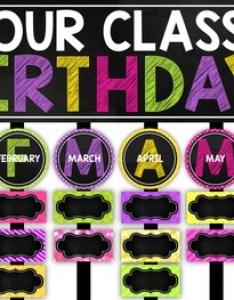 also birthday chart chalkboard and editable by cara   creative playground rh teacherspayteachers