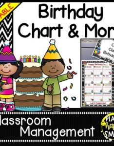 Birthday chart in  chevron   print editable also by planet happy smiles rh teacherspayteachers
