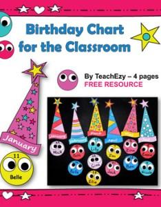 also birthday charts for the classroom free and editable by teachezy tpt rh teacherspayteachers