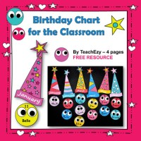 Birthday Charts for the Classroom FREE and editable by