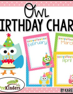 also birthday chart owls editable by karen cox teachers pay rh teacherspayteachers