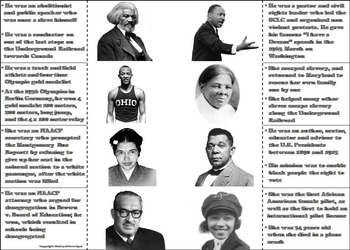 Black History Month Activity/ African American History