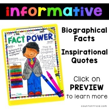Black History Month Multiplication Color by Number by