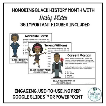 Black History Month Daily Slides Activity with 35