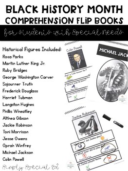 Black History Month Picture Comprehension by Simply