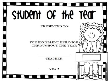 Black & White End of the Year Awards {editable} by This