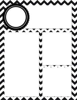 Black and White Chevron Newsletter Template by Danielle