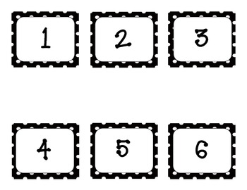 Black and White Polka Dot Calendar Numbers by Scrappy