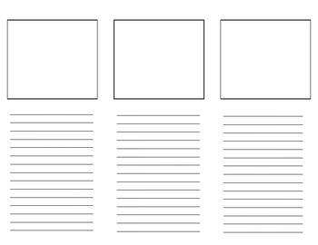 Blank Brochure Template for Student Projects by Third Time