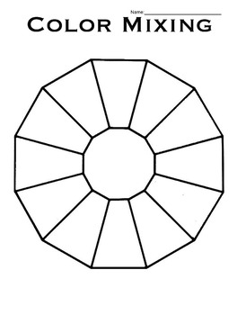 Blank Color Wheel Worksheets Teaching Resources Tpt