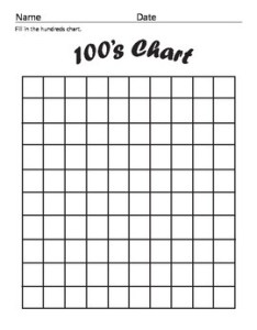 Blank hundreds chart also by year one and counting teachers pay rh teacherspayteachers