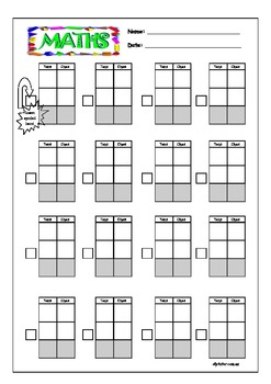 Blank MAB Column Addition and Subtraction Worksheets by