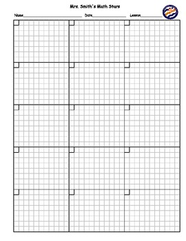 Blank Math Homework Practice Sheet CUSTOMIZABLE!!! by