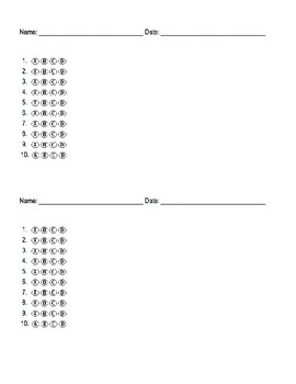 Blank Multiple Choice Bubble Sheet Answer Documents