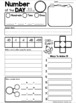 Blank Number of the Day MATH Templates by Whimsy Workshop