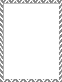 Blank Page with Chevron Border by Lesson Plans and Coffee