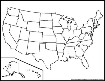 Blank United States Maps (Three Versions) by Learning With