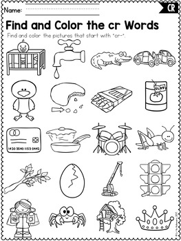 Cozy Blends Worksheets And Activities Cl Word Work