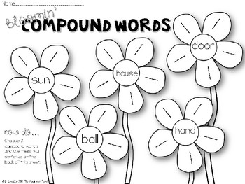 Bloomin' Compound Words Freebie by The Applicious Teacher
