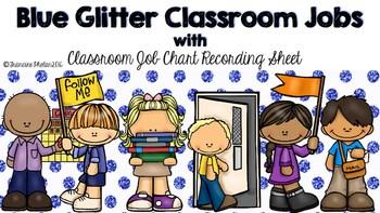 blue glitter classroom jobs