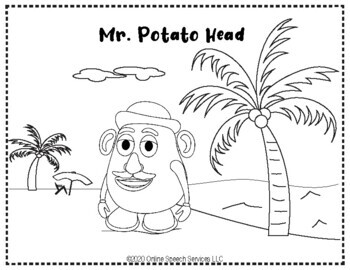 Body Parts Themed Coloring Worksheets for Preschool and