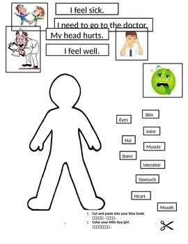 Image Result For Worksheets For Kindergarten On Body Parts